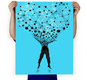 Networked Art Print
