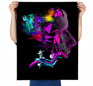 we are the imagination of ourselves Art Print