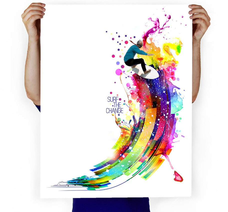 Surf The Change Art Print
