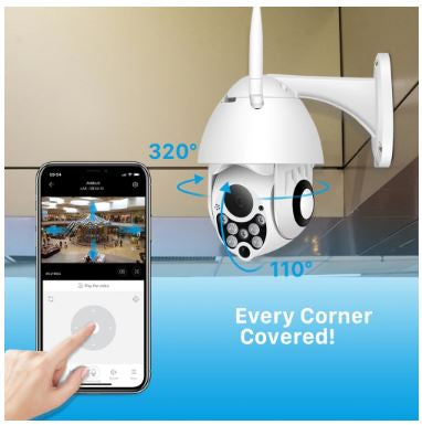 With FHDeye™ - 1080P PTZ IP Camera Wifi Outdoor Camera you can reach every corner of the room