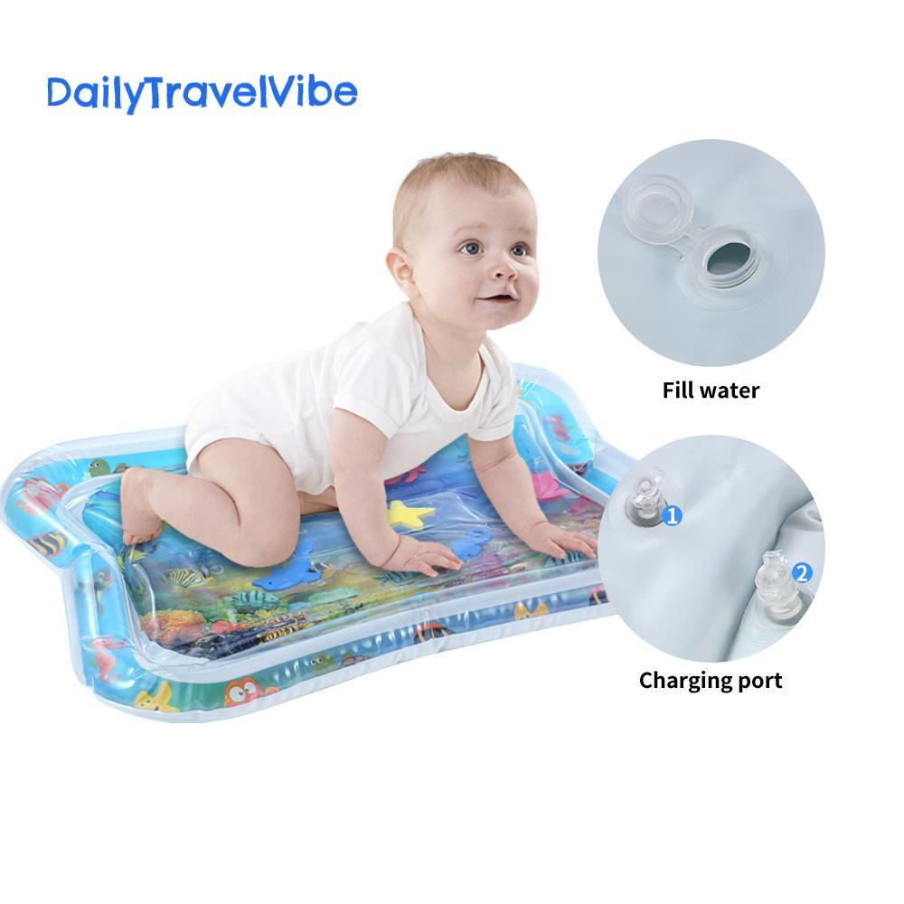 Inflatable Baby Water Mat Toy - dailytravelvibe