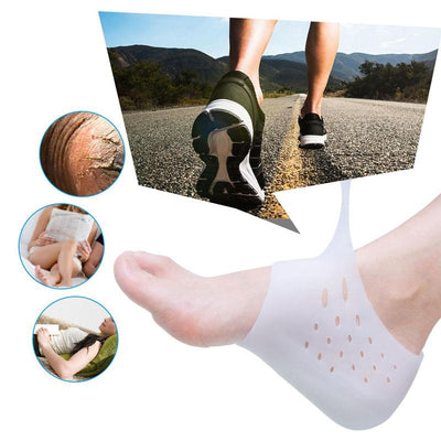 Height Increase + Heel Protector Silicon Socks - dailytravelvibe