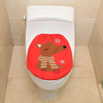 Christmas Toilet Cover Decoration - dailytravelvibe