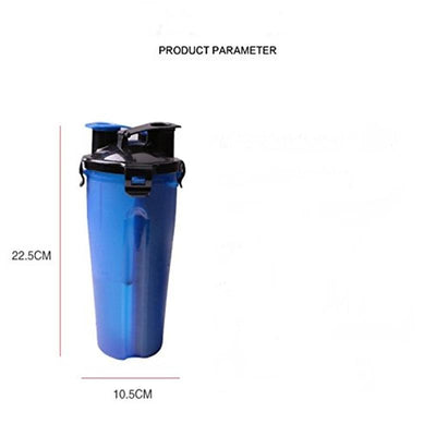 2 in 1 Portable Pet Feeder Bottle - dailytravelvibe