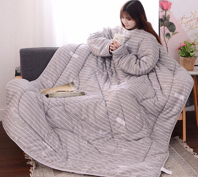 Duvet Cover - Winter Lazy Quilt With Sleeves