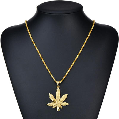 ☘ Premium Gold/Silver Weed Necklace (Limited Edition) ☘ - dailytravelvibe