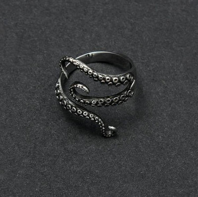 Premium Gothic Resizable Octopus Ring - dailytravelvibe
