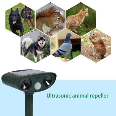 Outdoor Ultrasonic Solar-Powered Animal Repeller - dailytravelvibe