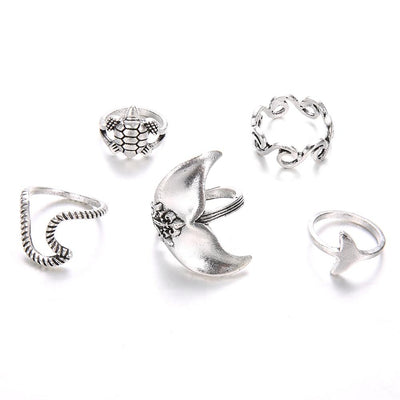 Bohemian Mermaid Ring Set - dailytravelvibe