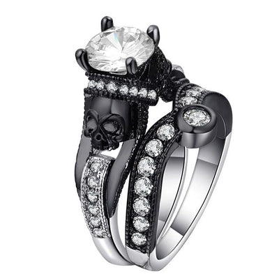 Rings - Skulla - Cubic Zirconia Skull Ring Set