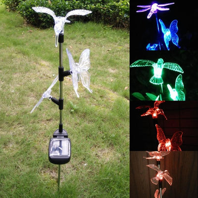 Butterfly LED Solar Powered Chime - dailytravelvibe