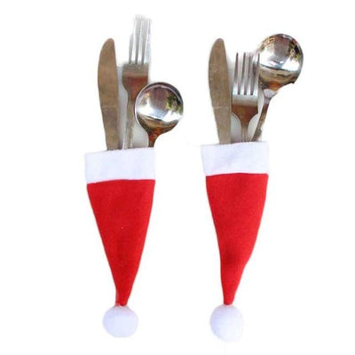 Christmas Santa Cutlery Cloth (5 Pieces/Set) - dailytravelvibe