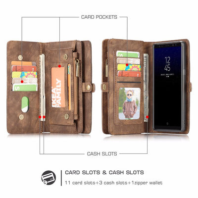 Luxury Magnetic Wallet Phone Case (Samsung) - dailytravelvibe