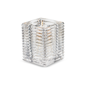 Square Ribbed Candle Holders