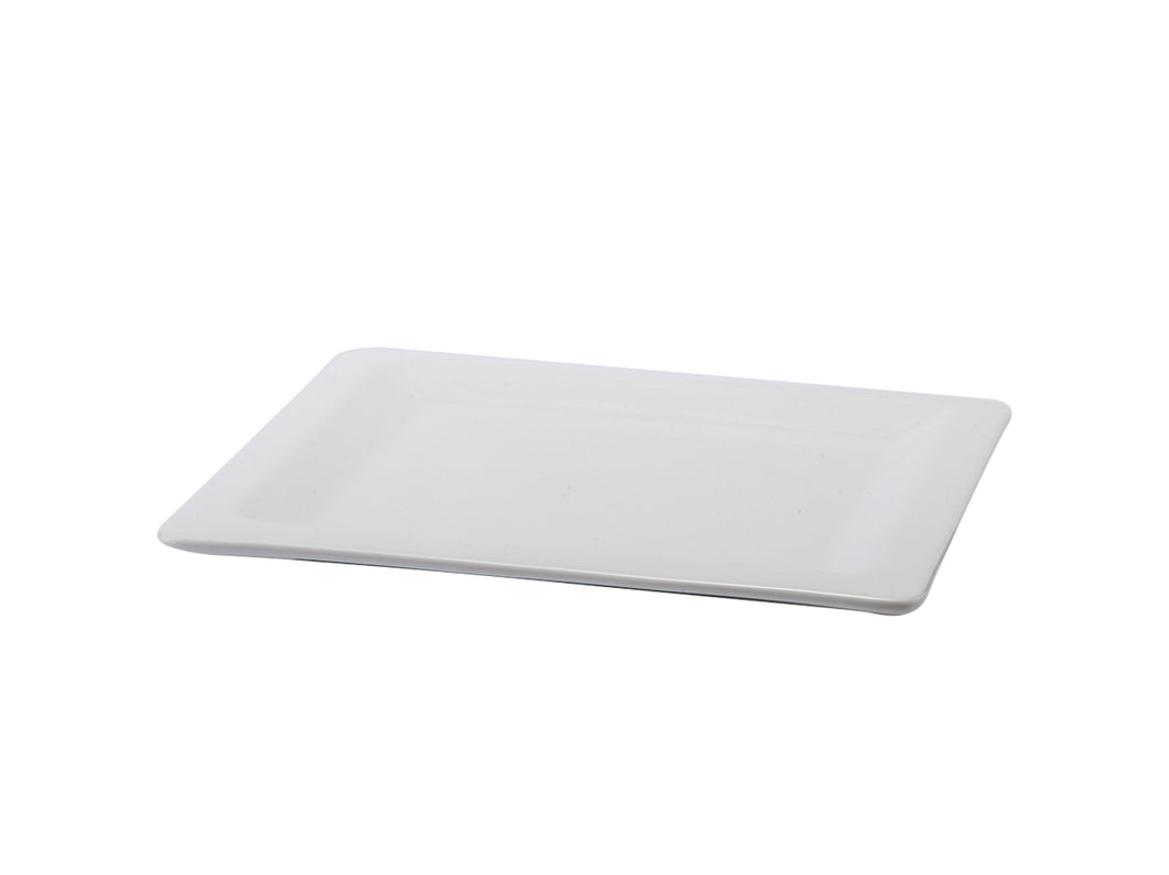 Open Food Display - Square Flat Porcelain Plate