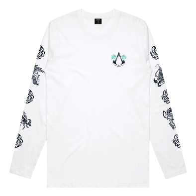 Assassin's Creed Valhalla: Circle Long Sleeve Tee - White
