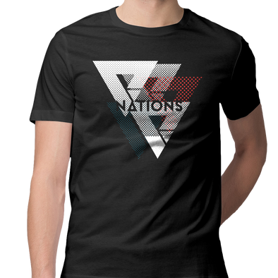 Nations Halftone Tee - Black - We Are Nations