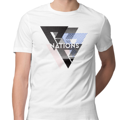 Nations Halftone Tee - White - We Are Nations
