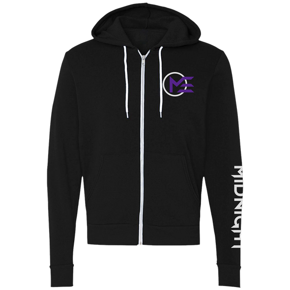 Nations Midnight Logo Zip Hoodie - Black - We Are Nations