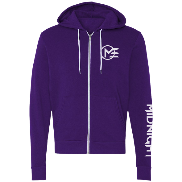 Nations Midnight Logo Zip Hoodie - Purple - We Are Nations