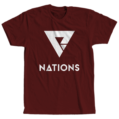 Nations Big Logo Tee - Crimson