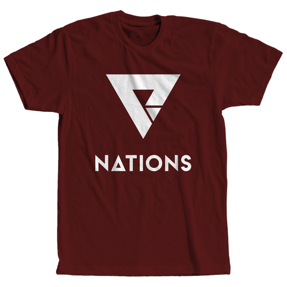 Nations Big Logo Tee - Crimson - We Are Nations