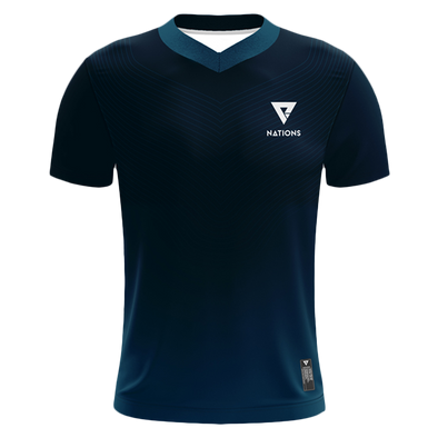 Nations Wave V-Neck Pro Jersey Navy - We Are Nations