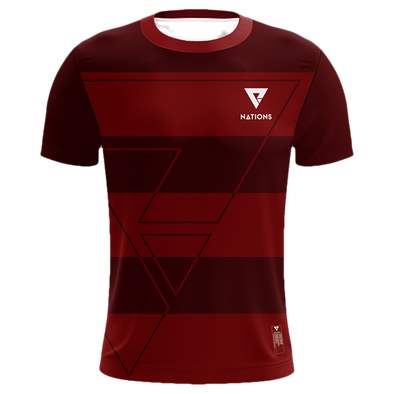 Nations Pro Jersey - Striped - Red - We Are Nations
