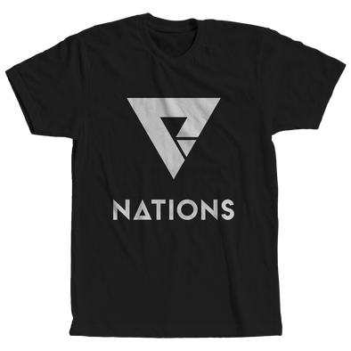 Nations Logo Tee - Black - We Are Nations