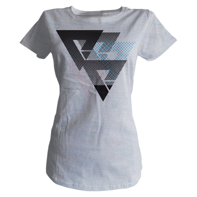 Halftone Womens Tee - Marble Blue