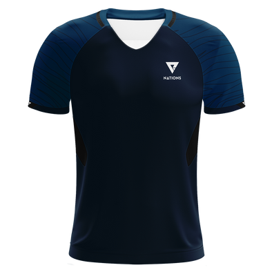 Nations Pro Plus Hybrid V Jersey - Navy - We Are Nations