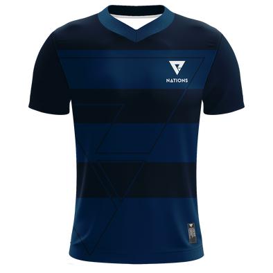 Nations Pro Jersey - Striped - Navy - We Are Nations