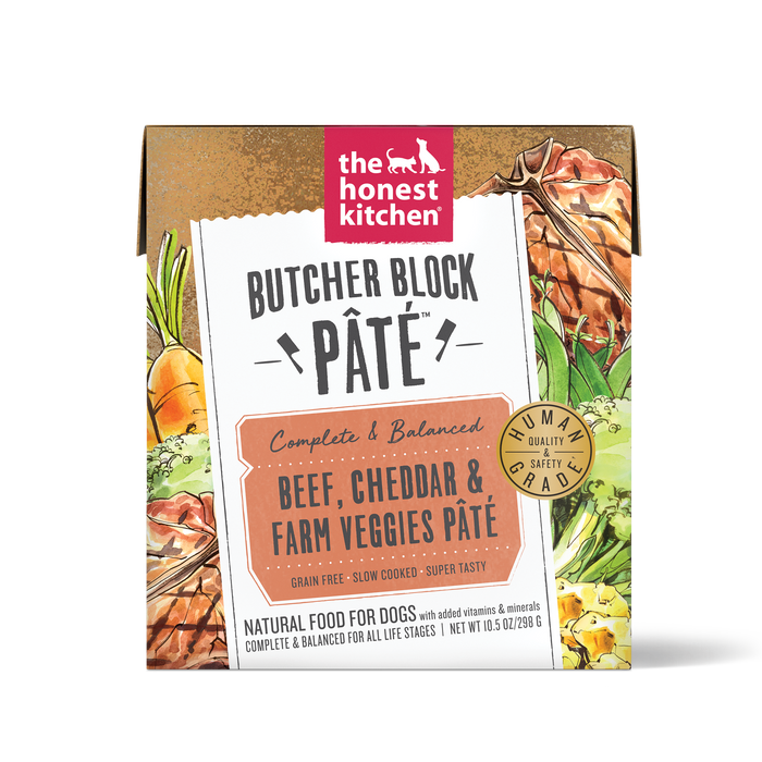 The Honest Kitchen Butcher Block Pate for Dogs Beef, Cheddar & Farm Veggies