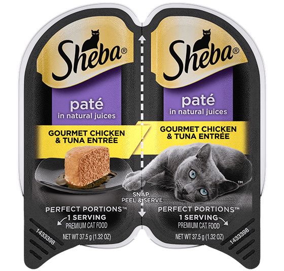 Sheba Perfect Portions Pate Gourmet Chicken & Tuna Entree Wet Cat Food