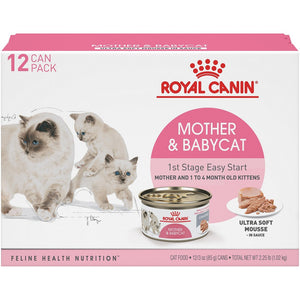 Royal Canin Feline Health Nutrition Mother & Babycat Ultra Soft Mousse in Sauce Canned Cat Food