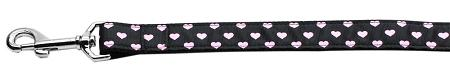 Pink and Black Dotty Hearts Dog Leash