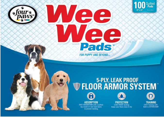 Four Paws Wee-Wee Pad Puppy Housebreaking Pads