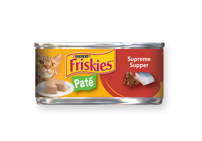 Friskies Pate Supreme Supper Canned Cat Food