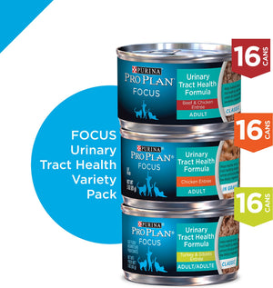 Purina Pro Plan Urinary Tract Cat Cans Variety Pack