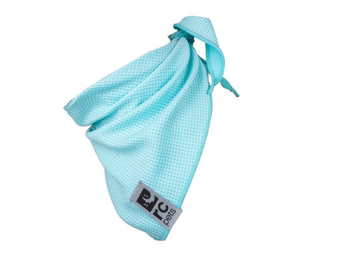 RC Pets Zephyr Cooling Pet Bandana, Ice Blue