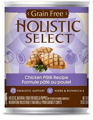 Holistic Select NaturalGrain Free Chicken Recipe Wet Canned Dog Food