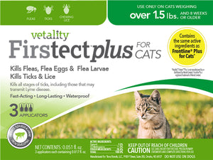 Vetality Firstect Plus Cats Over 1.5 lbs 3 Dose