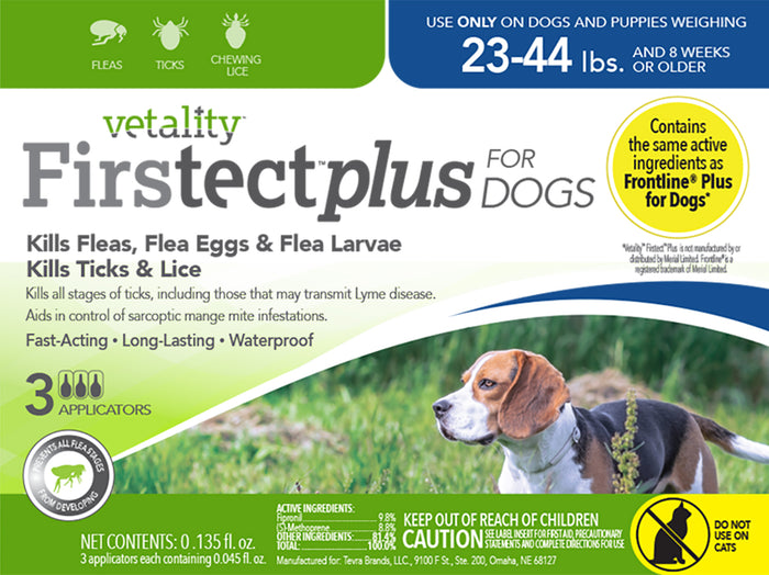 Vetality Firstect Plus Dogs 23-44lbs 3 Dose