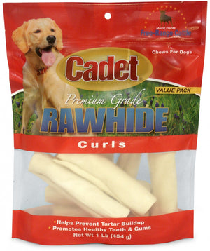 Cadet Rawhide Natural Flavor Curls for Dogs