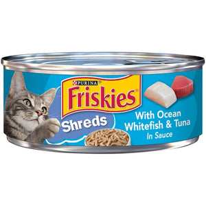 Friskies Savory Shreds with Ocean White Fish & Tuna Canned Cat Food