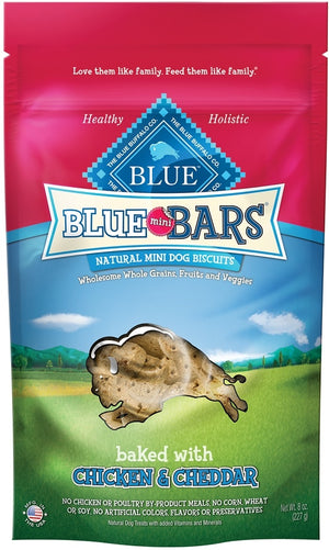 Blue Buffalo Mini Bars Chicken and Cheddar Natural Mini Dog Biscuits