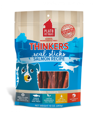 Plato New Thinkers Wild Alaskan Salmon Sticks Dog Treats
