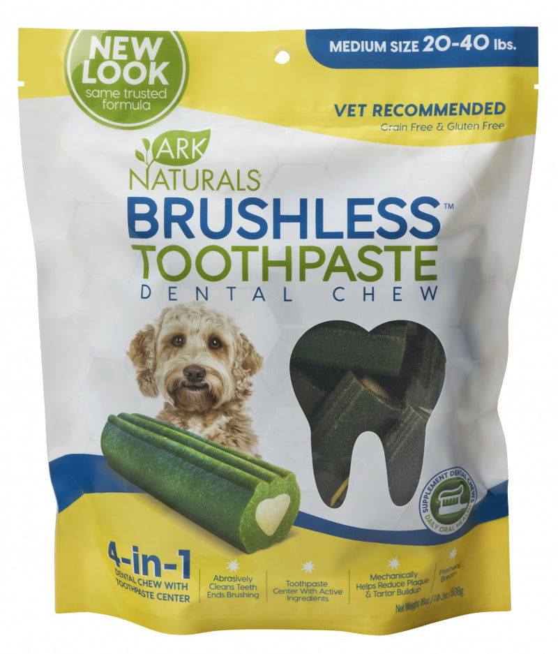 Ark Naturals BREATH-LESS Brushless-Toothpaste Medium Dog Treats