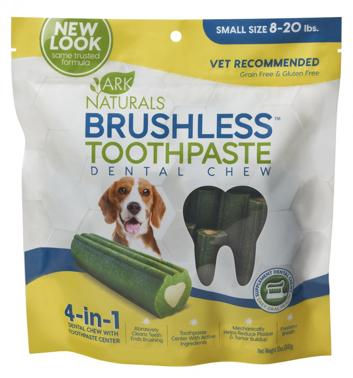 Ark Naturals Brushless Toothpaste Small Dog Treats