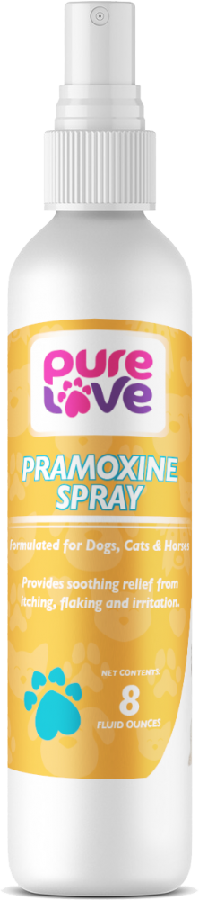 Pure Love Pramoxine Spray For Dogs and Cats